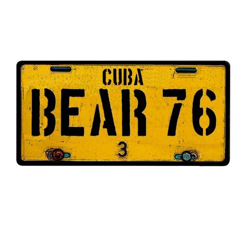 CAMISETA MATRICULA CUBA BEAR