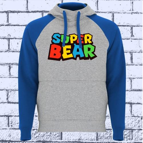 SUDADERA BICOLOR SUPER BEAR