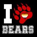 CAMISETA I LOVE BEARS GARRA LETRA BLANCA