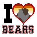 CAMISETA I LOVE BEARS OSOS LETRA NEGRA